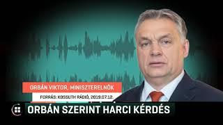 Orbán szerint harci kérdés, hogy megakadályozzák a civil szervezetek közvetlen támogatását 19-07-16