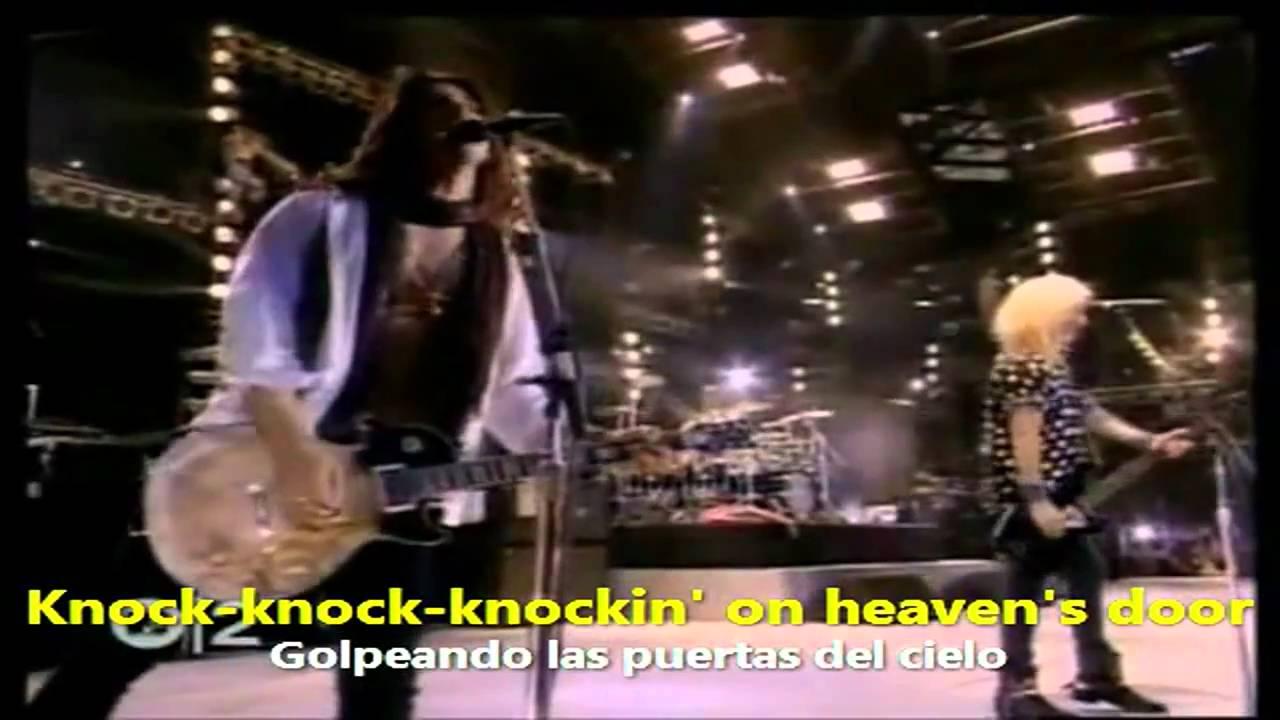 Hd Guns N Roses Knockin On Heaven S Door Español Inglés Youtube