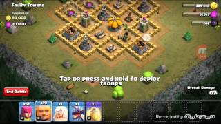 Clash of Clans | Faulty Towers Village Raided | 3 Star
