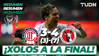Resumen y Goles | Toluca 3 (3) - (7) 4 Tijuana | Copa Mx - Semifinal Vuelta | TUDN