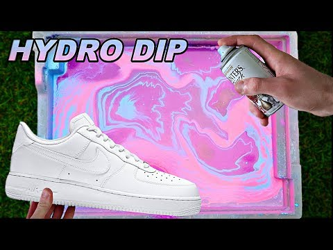 HYDRO Dipping AIR Force 1's! -2