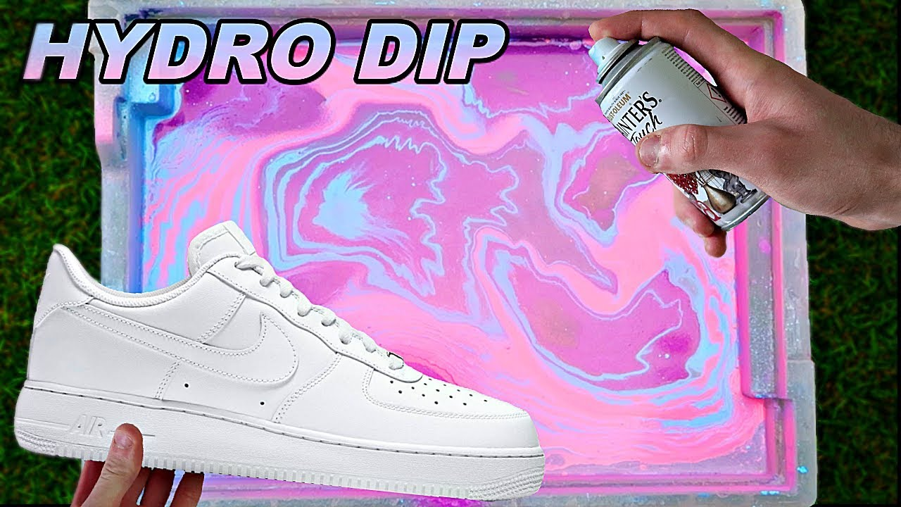 HYDRO Dipping AIR Force 1's! -2 - YouTube