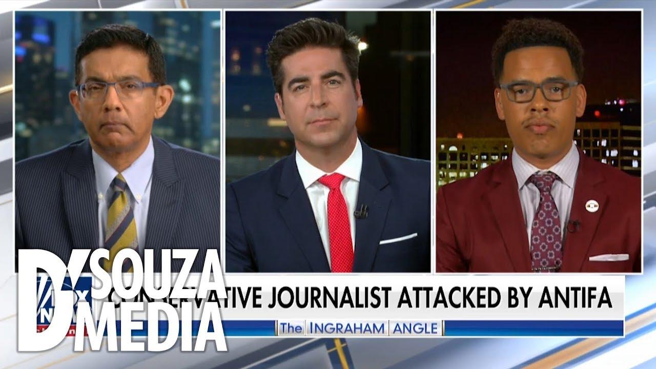 "Dinesh DSouza 'Antifa violently attacks innocent man ON video, leftist calls it ""alleged&a"