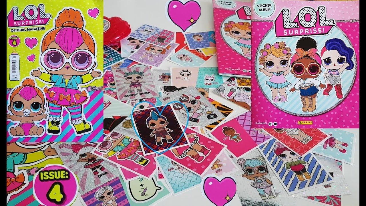 Lol surprise magazine issue 4 sticker album starter pack lots of stickers