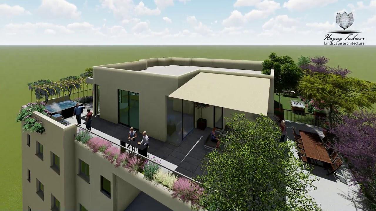 Modern Roof Garden Design By Hagay Tadmo Youtube