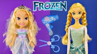 NEW Frozen Easy Styles Elsa Doll How To Change Elsa
