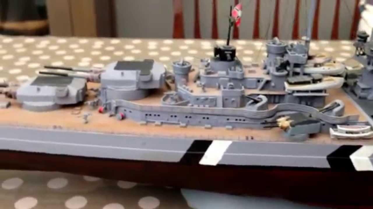 1/350 Revell Battleship Bismarck Kit Repaint