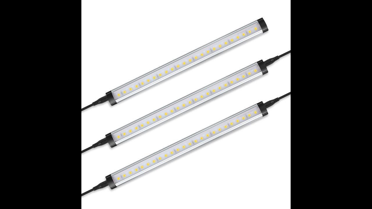 Albrillo Led Under Cabinet Lighting Remote Control Dimmable Kit