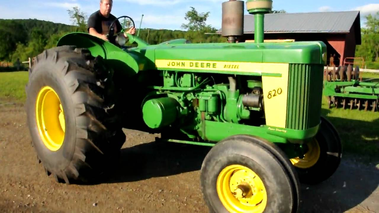 john deere model 820 with pony motor youtube. Black Bedroom Furniture Sets. Home Design Ideas