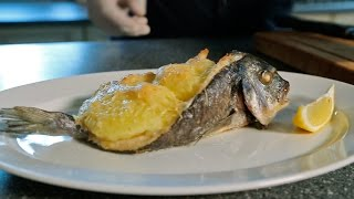 Рыба запеченая  лодочкой