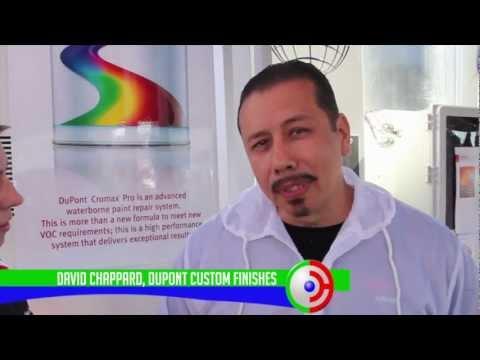 Spraying DuPont Axalta Cromax Pro at SEMA 2012