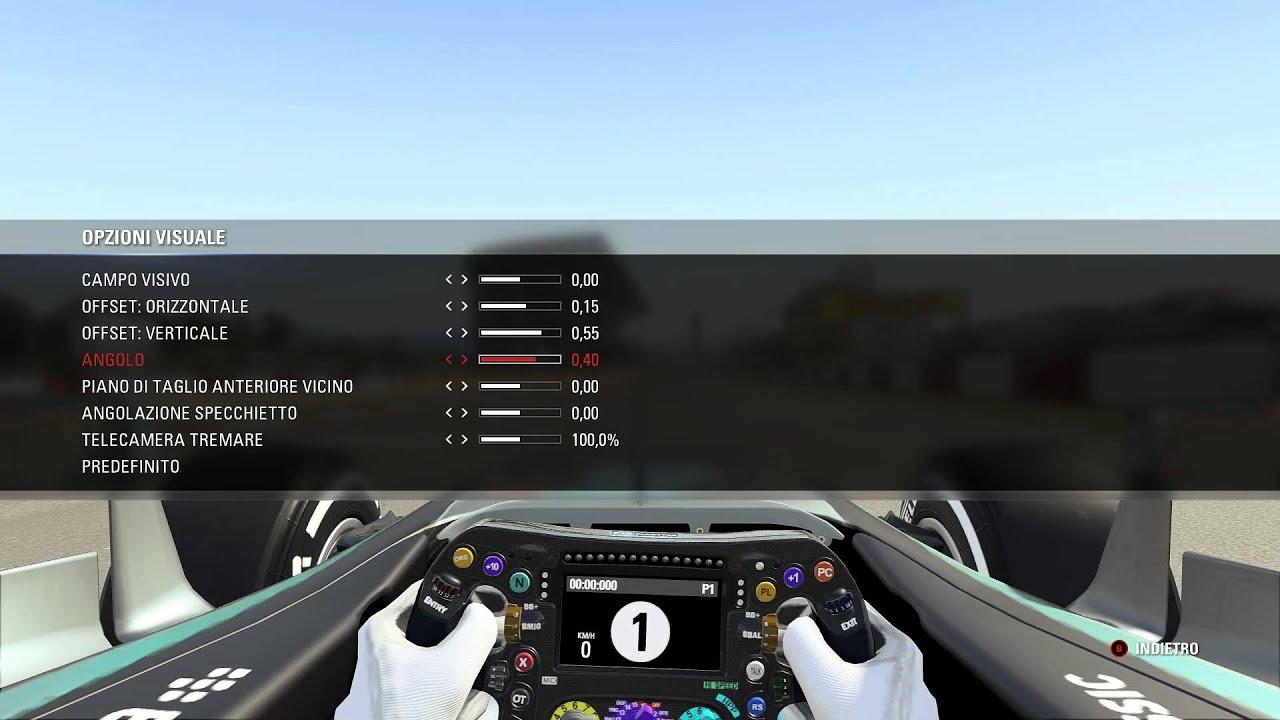 F1 2015 Codemaster - Menu impostazione visuale interna - FOV Settings