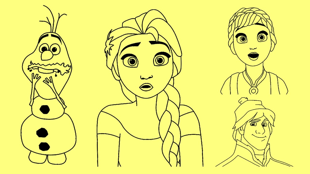 Drawing Of From Frozen Kristoff And Sven: How To Draw Disney Frozen Characters