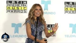 Gloria Trevi en la sala de Prensa de Los Latin American Music Awards 2015