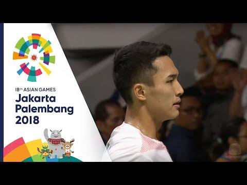 แบดมินตันชายเดี่ยว อินโดนีเซีย Vs จีนไทเป รอบชิงชนะเลิศ |  เอเชียนเกมส์ 2018