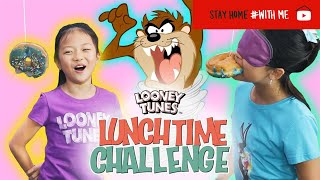 Taz's Donut Destruction Challenge | Looney Tunes Lunchtime Challenge | WB Kids