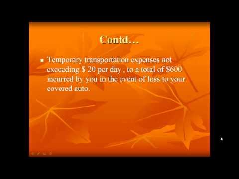 Auto Insurance   transportation Expenses
