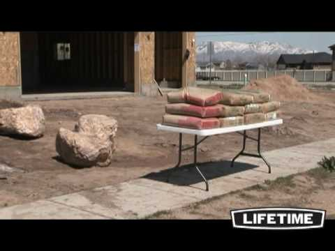Lifetime 6 Ft Fold In Half Table
