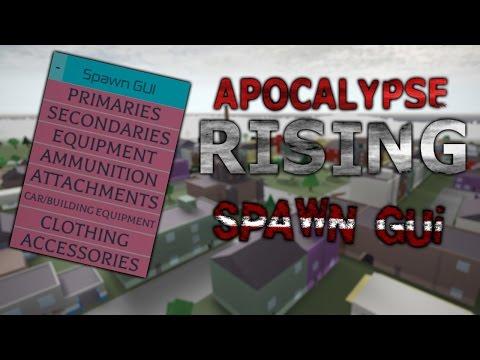 ROBLOX: Apocalypse Rising GUI Spawn Hack! (WORKING!)