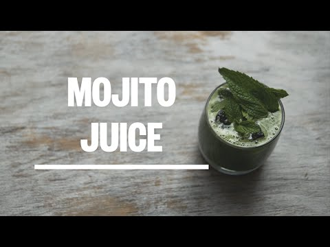 How To Make A Mojito Cold Pressed Juice - Green Press