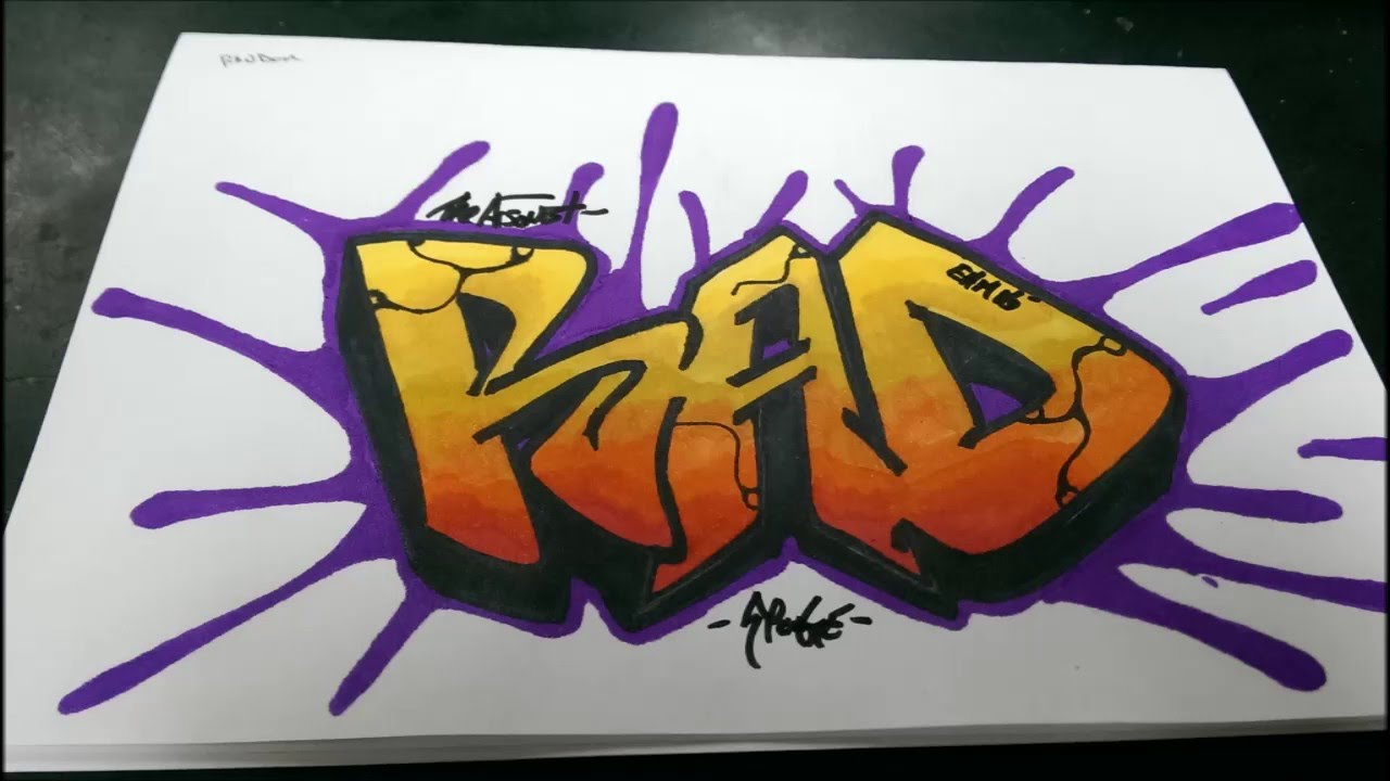 How To Draw Graffiti Word Rad Youtube