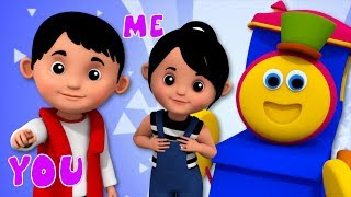 Pronoun Song | Learning Street With Bob The Train | Nursery Rhymes  And Videos For Babies by Kids Tv
