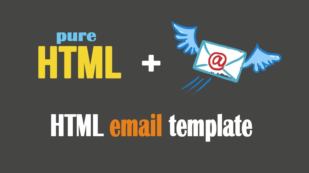 How To Design HTML Email Template || Send via Gmail || Newsletter ...