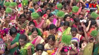 Teej Festival Dance by Thousand Banjara Ladies at Nizamabad Town // 3TV BANJARAA