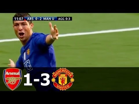 Arsenal Vs Manchester United 1 3 All Goals And Highlights Ucl Semi Final 2008 09 Youtube