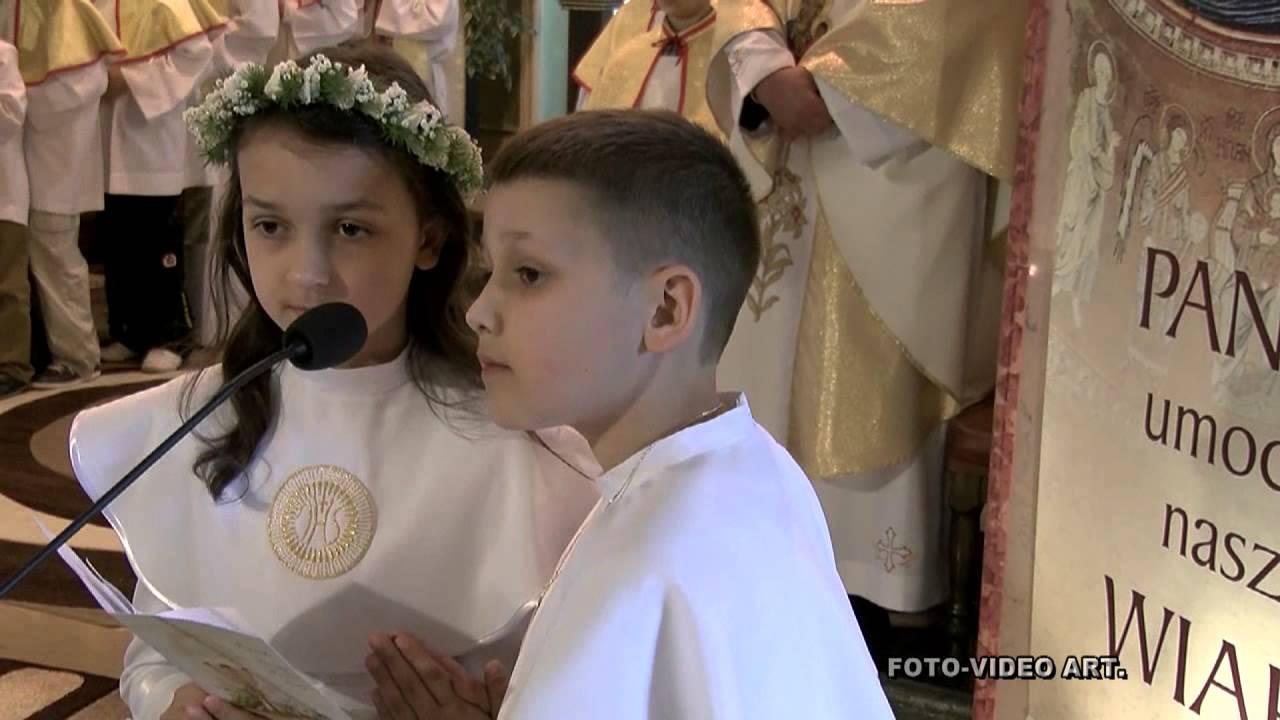 Najpiękniejsza I Komunia święta Kościół Garnizonowy Mbnp W Hrubieszowie 26 Maja 2013 R