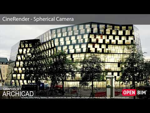 ARCHICAD 22 - CineRender - Spherical Camera