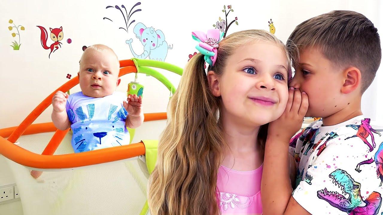 Диана и Рома делают новую комнату для малыша Оливера