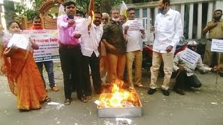 Nagpur: VRAS activists stage protest against Uddhav Thackeray for renaming of Gorewada Zoo