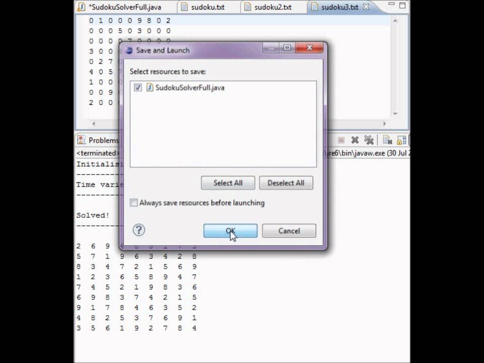 Sudoku Solver : Java