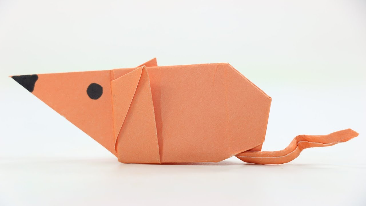How To Make An Origami Mouse For Kids Fold From The Paper Diagram Of Themouse Animals A