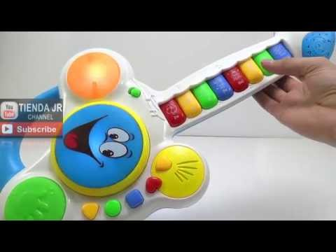 Didactic Guitar Musical Animals Baby Toys Lights and Songs