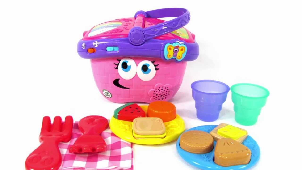 Leapfrog Toys Shapes And Sharing Picnic Basket Toy Review Youtube