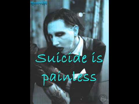 Marilyn manson - Suicide is painless with lyrics - YouTube