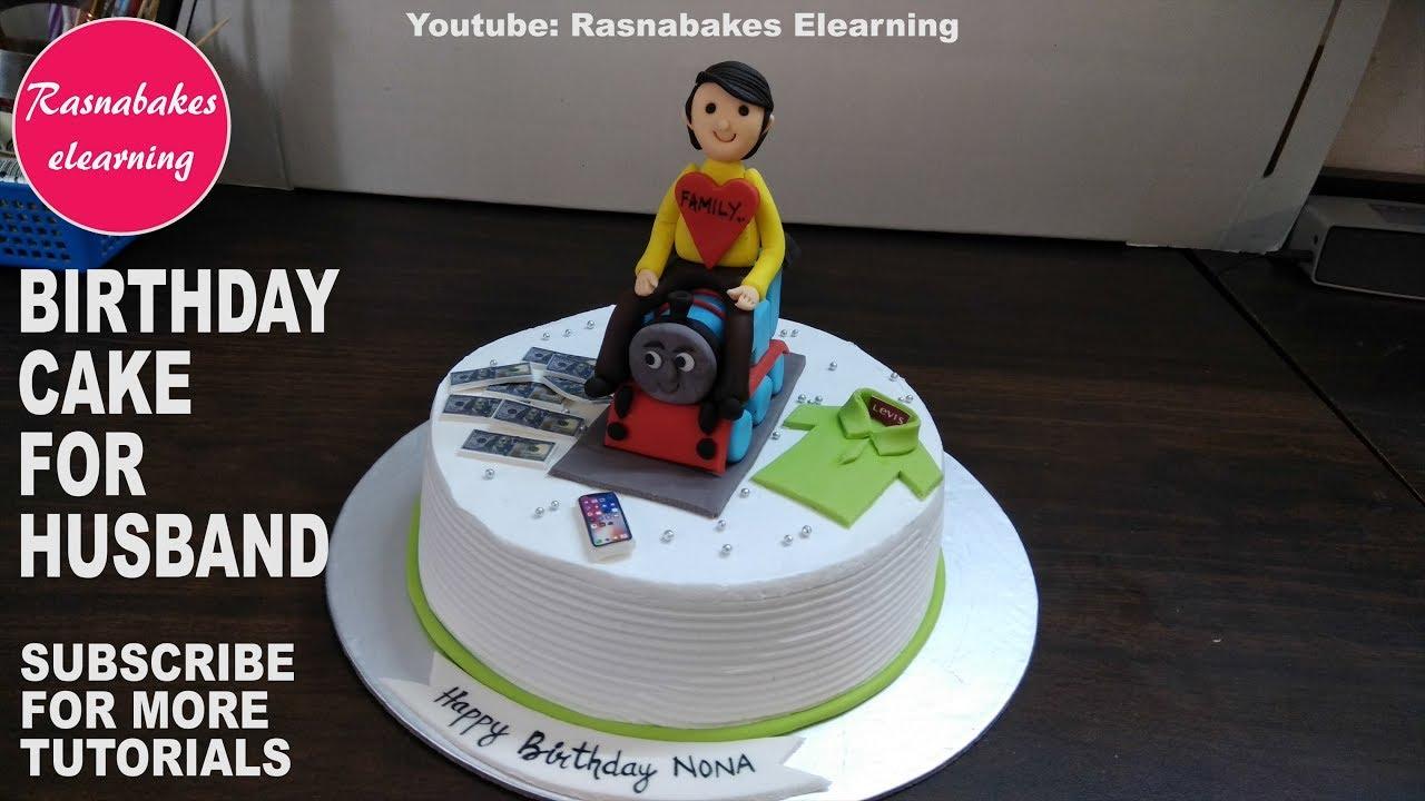 Happy Birthday To My Husbandbirthday Cake For Menbirthday Cake For