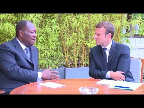 Alassane Ouattara a eu un entretien avec Emmanuel MACRON, à l'Elysée