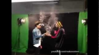 Wiz Khalifa & Snoop Dogg - French Inhale [Behind the scenes] (Sick smoke off Wiz vs. Snoop)
