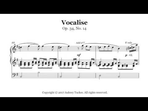Organ: Rachmaninoff Vocalise (Op. 34, No. 14)