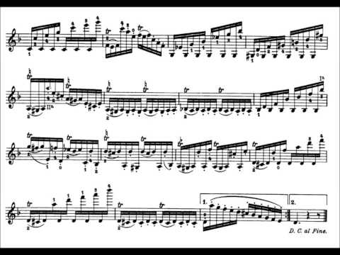 Niccolò Paganini - Caprice for Solo Violin, Op. 1 No. 22 (Sheet Music)