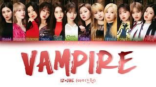 IZ*ONE(아이즈원) - VAMPIRE [Color Coded Lyrics Kan/Rom/Ina] Lirik Indonesia