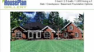 Pictures Of Ranch House Plans - Hpg-1855-1 Video Walkthrough