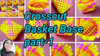 Plastic wire Mini Crosscut basket base/Crosscut basket part-1/plastic wire craft/Shoba Handcrafts