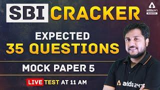 SBI Clerk 2021 | SBI Cracker Reasoning Expected 35 Question Live Test | Set 5