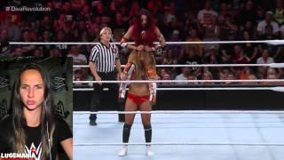 WWE Raw 8/17/15 Sasha Banks vs Nikki Bella