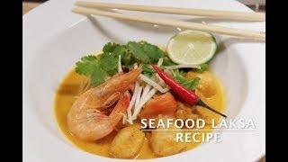 SEAFOOD   LAKSA   NOODLE SOUP   COCONUT MILK   RECIPE