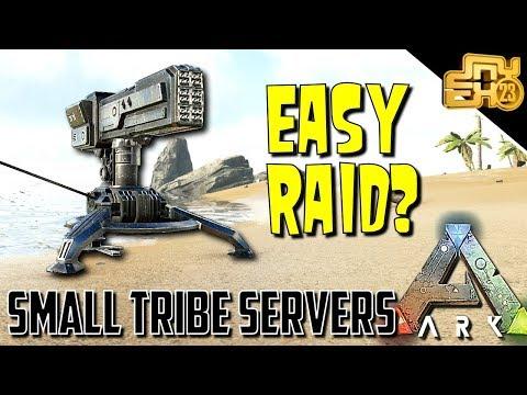ARK: SMALL TRIBE SERVERS - EP 11 - HEAVY TURRETS = EASY RAID??